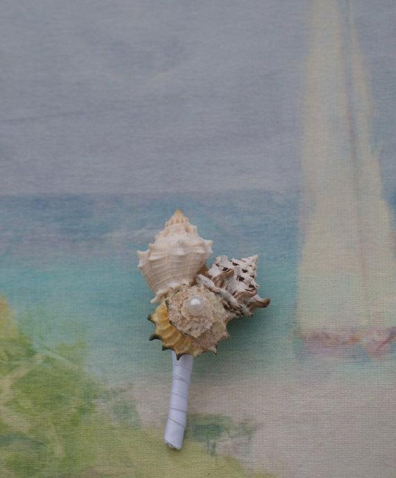 Hochzeit - Groom and Groomsmen boutonnieres, seaside, beach wedding
