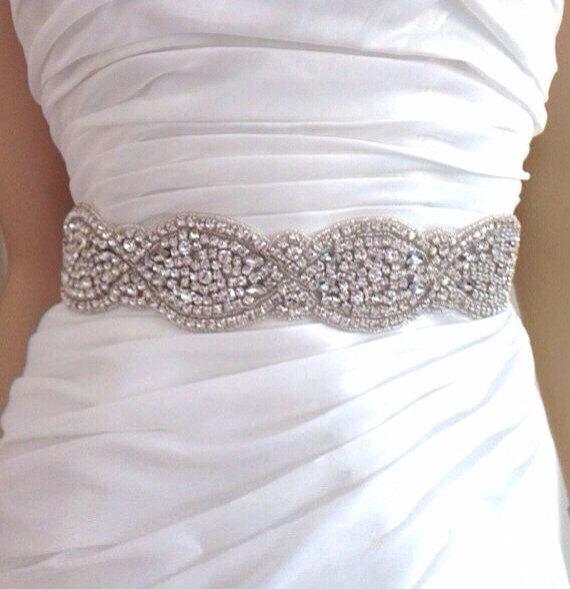 Свадьба - Wedding dress belt cystal bridal sash , julie