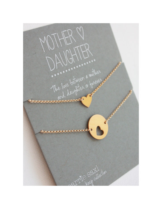 mother daughter bracelet set gold hearts mother daughter jewelry