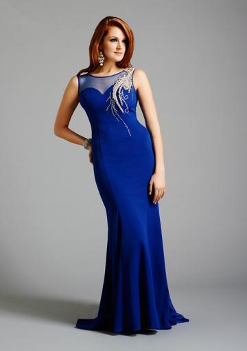 Wedding - Buy Australia 2015 Royal Blue Sheath Scoop Neckline Beaded Appliques Satin Floor Length Mother of the Bride Dresses at AU$194.11 - Dress4Australia.com.au