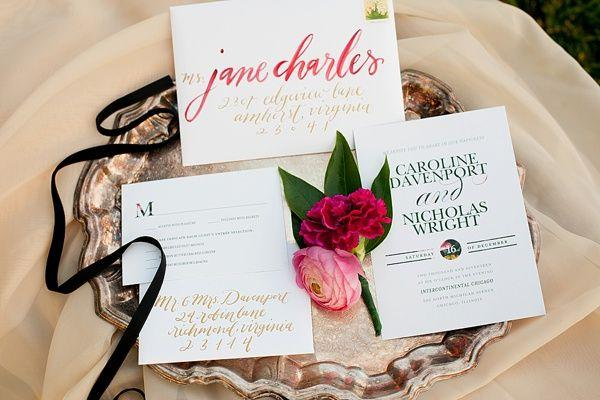 Wedding - Jewel-Toned Ruby And Marsala Wedding Inspiration