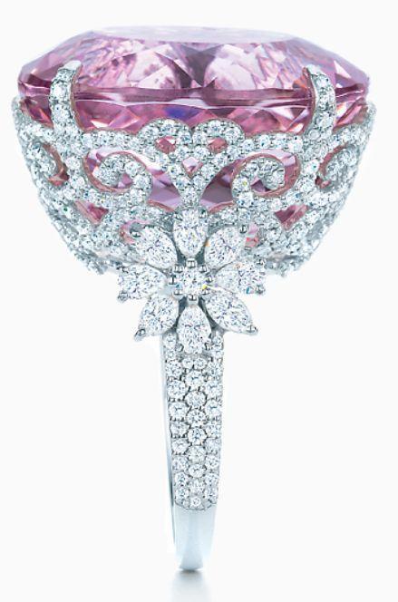 زفاف - Tiffany And Co Kunzite And Diamond Ring