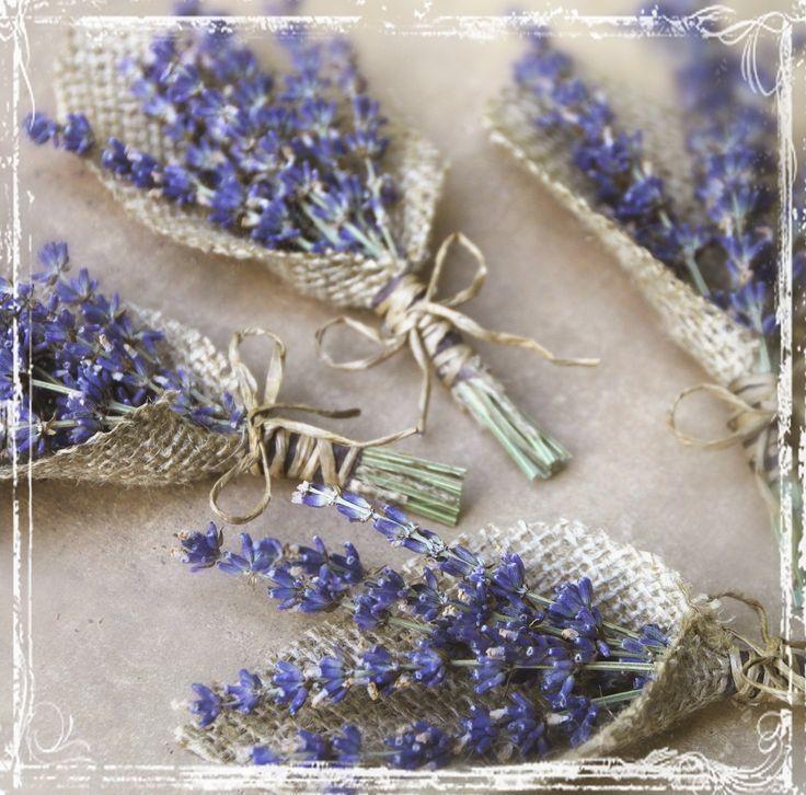 Lavender And Burlap Boutonniere Herb Weddings European Elegant Wedding Purple Dried Flower Groomsmen Groom Herbal Lapel Pin