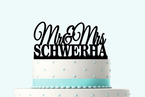 Wedding - Wedding Cake Topper Silhouette Groom and Bride, Acrylic Cake Topper