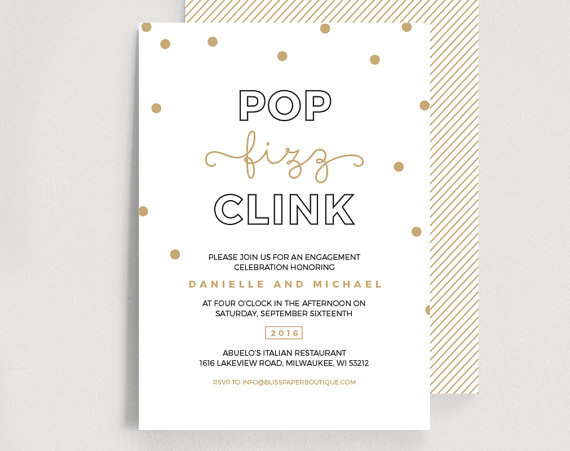 Engagement Party Invitation Editable Template Pop Fizz Clink – Engagement Party Template