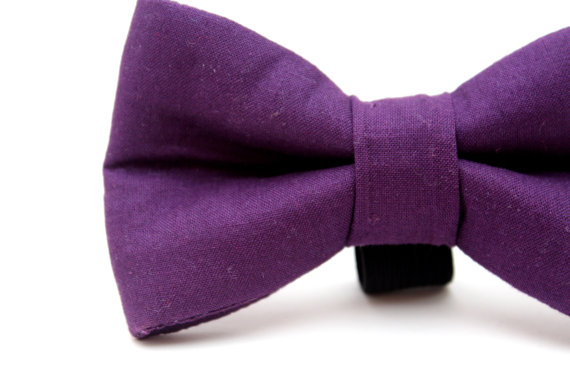 زفاف - Dog Bow Tie, Dog bowtie, Purple Bow Tie