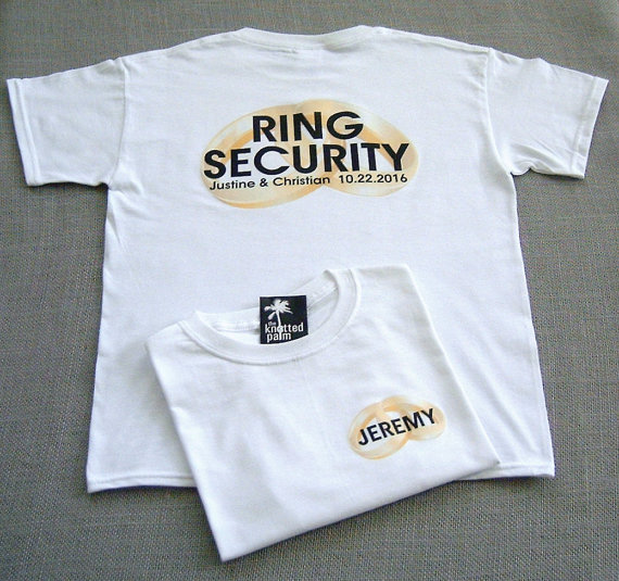 Mariage - RING SECURITY (back design) Personalized Ring Bearer Wedding Rings T-Shirt