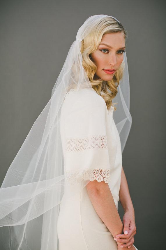 Wedding - Juliet Veil, Cap Bridal Veil Wedding Veil, Juliet Cap Veil, Tulle Veil, 1920s Cap Veil, BOHO Veil, Chapel Veil, Bridal Accessories  #1107