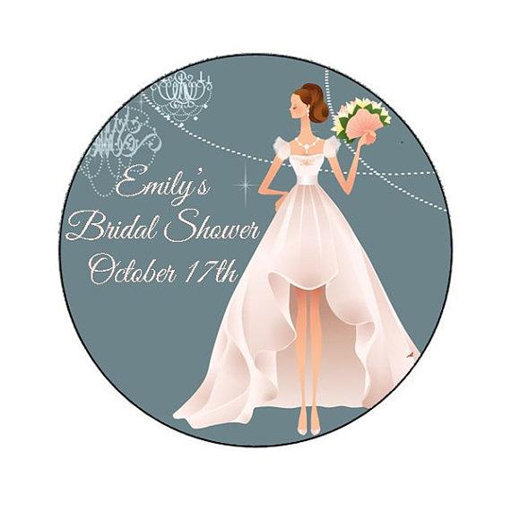 زفاف - Personalized Modern Bride Bridal Shower Sticker - envelope seal, bridal shower decoration, bridal shower favor, invitation seal