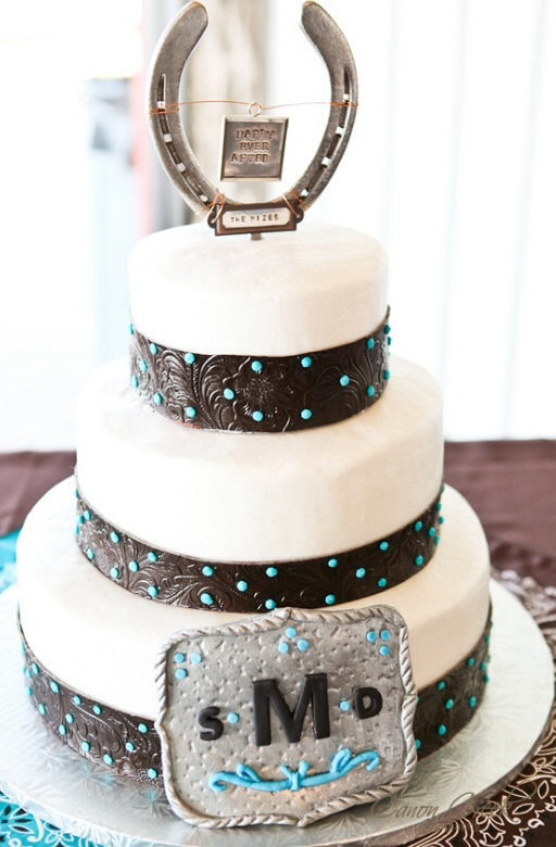 Wedding Cake Topper Blue Shoes