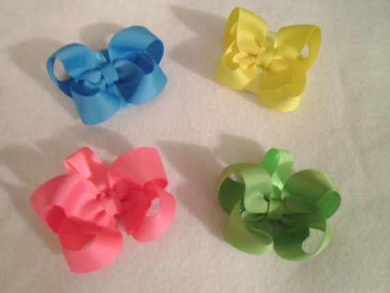 Wedding - New Item,  Dog Bows, Over the Collar bows, Slides over collar, bows, Boutique Collar bows,  Pack of 2