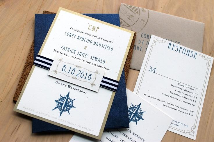 beach wedding invitations destination wedding invites taupe navy nautical wedding invitations nautical bliss deposit - Destination Wedding Invites