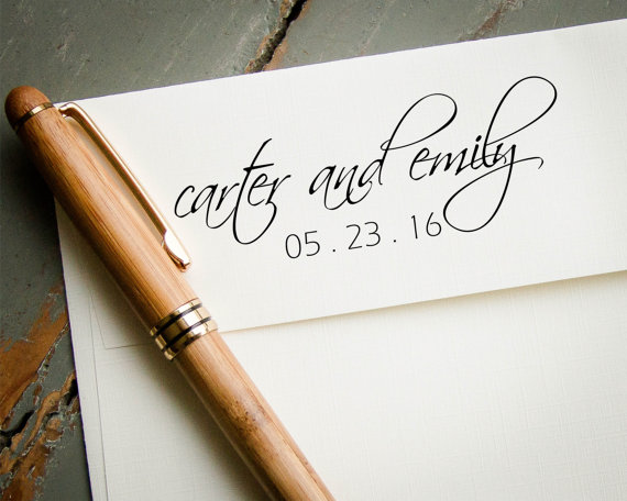 Personalized Stamp Custom Rubber Wedding Save The Date Diy Invitations