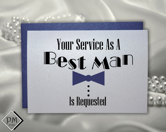 Funny Best Man Card Will You Be My For Weddings Groomsmen Asking Wedding Cards Your Service As Is Requested