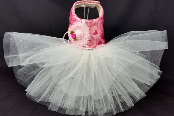 زفاف - Tea Party! Dog Harness Dress. XXSmall to XXLarge Dog Dresses, Dog Harness Dress, Wedding Dog Dress Tutu Dress