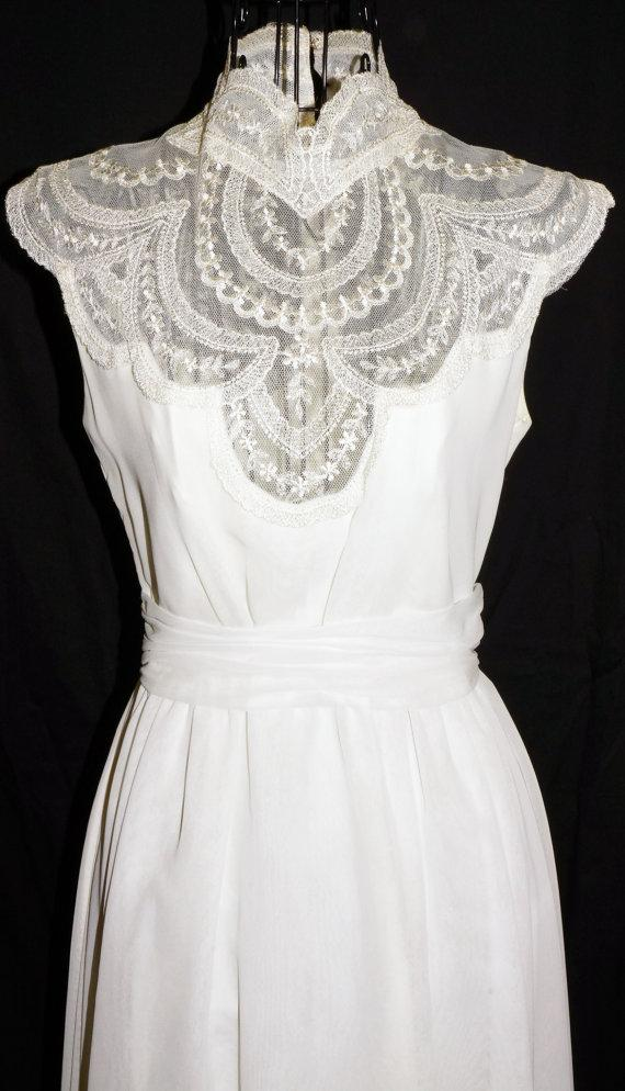 Wedding - 1970s Wedding Dress Sz 4