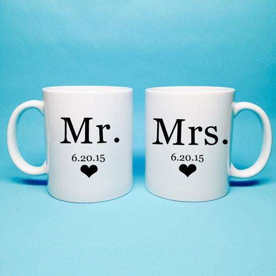 زفاف - Mr and Mrs Gift - Bridal Shower Gift - Mr and Mrs Coffee Mug - Unique Bridal Shower Gift - Wedding Gift Idea - Gift for Newlyweds - Coffee