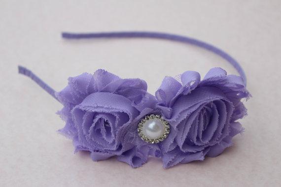 lavender girls headband purple flower girl headband metal headband toddler purple  headbands hard headband light purple wedding headband d6c970327fa