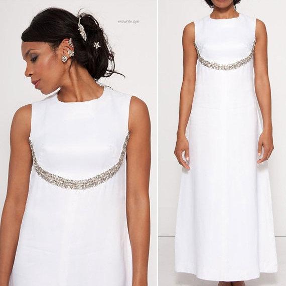 Hochzeit - Constance satin rhinestone pearl wedding gown