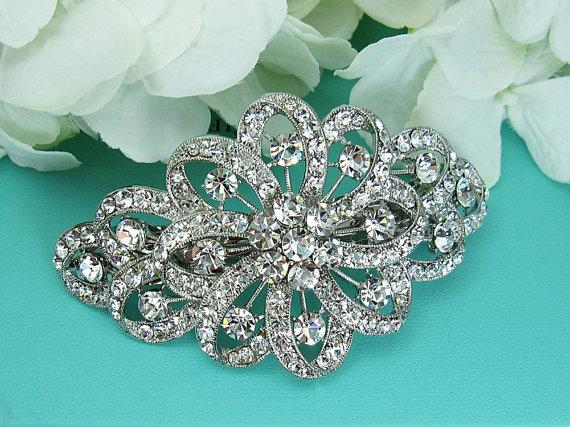 Mariage - Crystal Wedding Barrette, Bridal Comb Crystal, Wedding Crystal Hair Comb, Hair Barette, Wedding Accessory, Bridal Headpiece, Barrette Clip