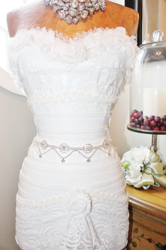 Свадьба - Bridal Rhinestone Wedding Sash