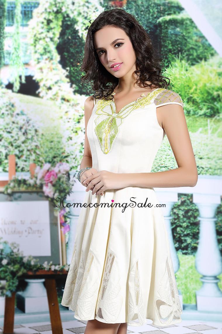 Wedding - 2015 Homecoming Dresses A Line V Neck Short Zipper Up Back