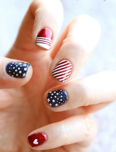زفاف - 10 Patriotic Nails For The Fourth Of July