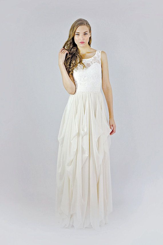 Clementine Lace And Silk Chiffon Gown - Etsy Exclusive - SPECIAL ...
