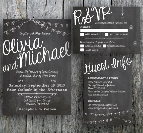 Chalkboard Wedding Invitation 2344971 Weddbook