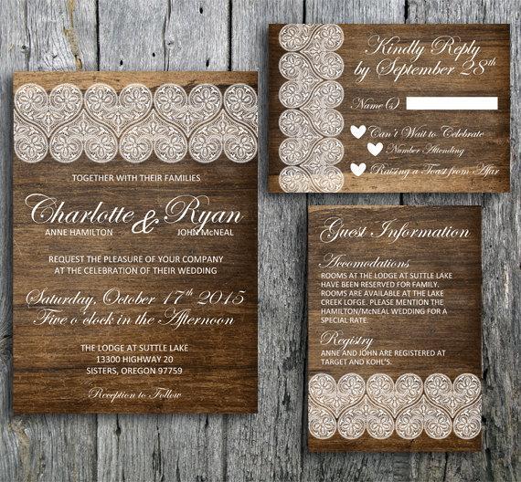 زفاف - Rustic wedding invitation