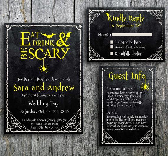 Wedding - Halloween Wedding Invitation