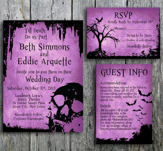 Mariage - Halloween wedding invitation