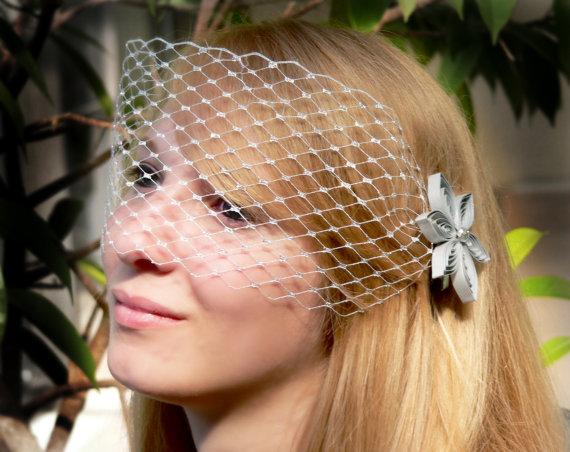 Свадьба - Silver Wedding Veil