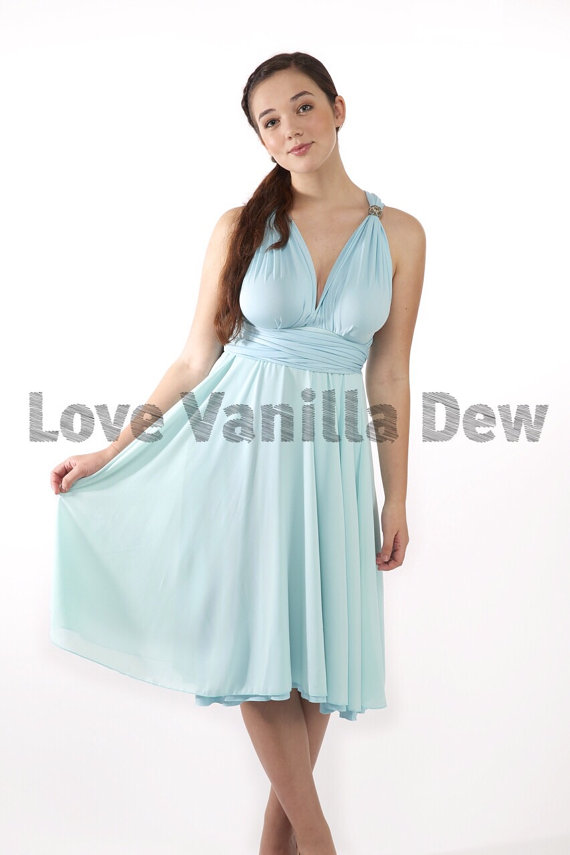 Bridesmaid Dress Convertible Dress Pastel Blue With Pastel Blue ...