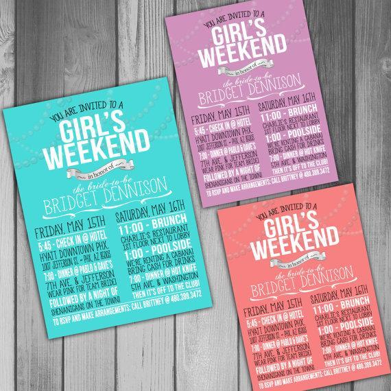 زفاف - Bachelorette Invitation Bachelorette Weekend Bachelorette Party Invitation Tiffany Invitation Girls Weekend Wedding Invitation Printable