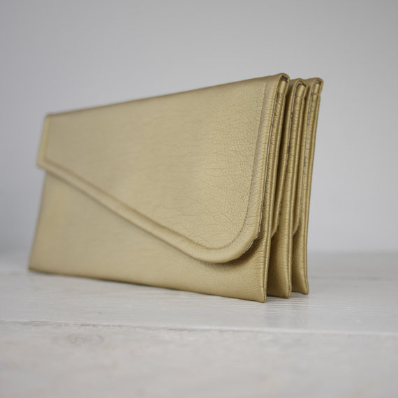Mariage - Simple gold clutch