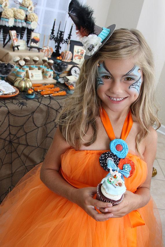 Hochzeit - Orange Tutu Dress by Atutudes - flower girl dress burthday party dress