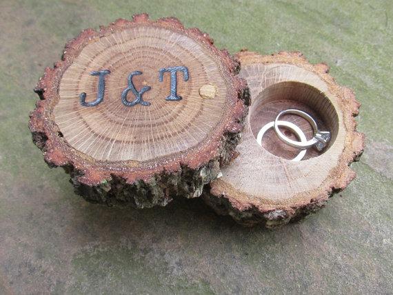 Mariage - Oak Ring Box