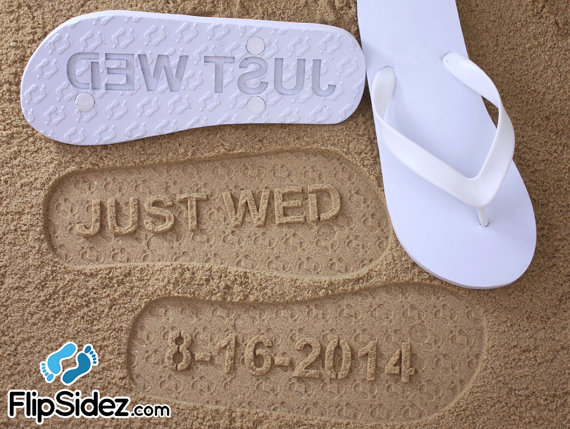 42f40f9ca Custom Wedding Flip Flops  Check Size Chart Before Ordering ...