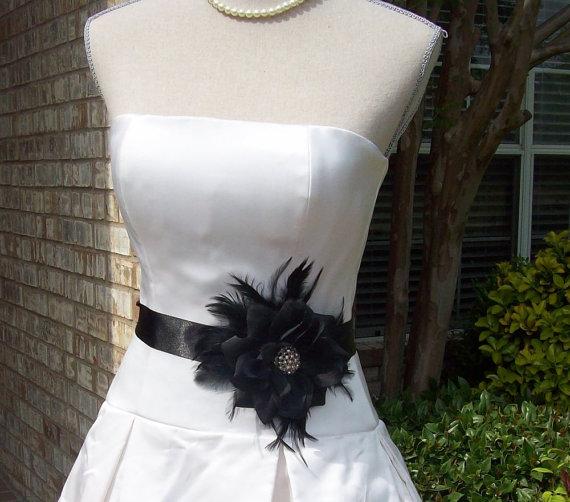 Mariage - Bridal Gown Sash,Wedding Sash,Little Black Dress Sash,Mother of the Bride,Bridal Sash,Wedding Belt