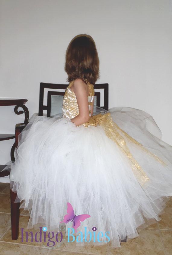 زفاف - Flower Girl Dress, Weddings, Tutu Dress, Ivory Tutu, Lace, Cream Top, White Reception, Gold Lace, Vintage, Bridesmaids Tutu, Wedding Party