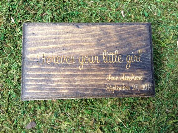 Hochzeit - Engraved Father of the Bride Gift Ring Box or Gift Box Rustic Wedding
