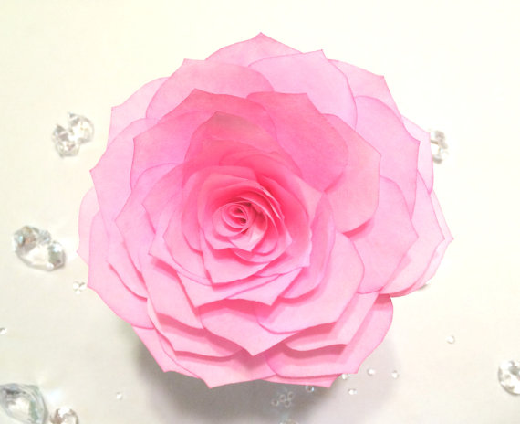 Wedding - Lotus flowers hand made from filter paper in colors of your choice, Wedding cake flowers, Wedding floral decor, Quinceanera floral decor