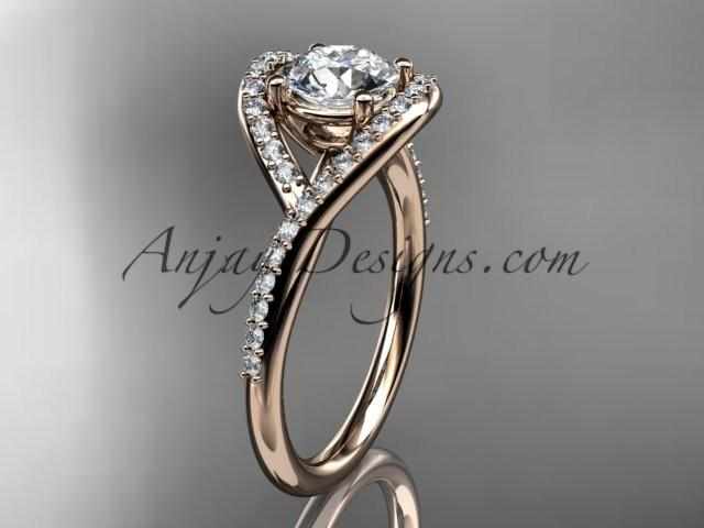 jewellery bezel unique quality engagement ritani diamond ring rings fashion semi set solitaire