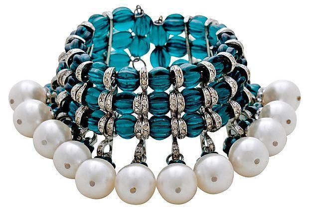 زفاف - Julie Rubano Glass & Faux-Pearl Bracelet