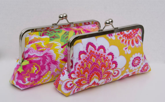 Mariage - Floral Wedding Party Gift Clutch for Personalized Bridesmaids gifts Design your Own Gift for your Bridesmaids