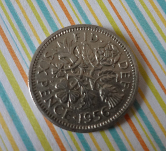 Wedding - 1956 And A Silver Sixpence In Her Shoe Wedding Bride Groom Shoes Bridal Shower Gift Keepsake Coin Token of Luck