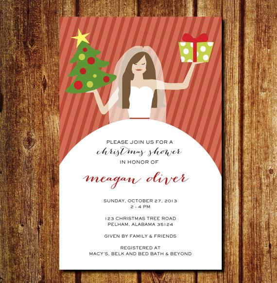 Bridal Christmas Shower Invitation Christmas Wedding Shower – Christmas Wedding Shower Invitations