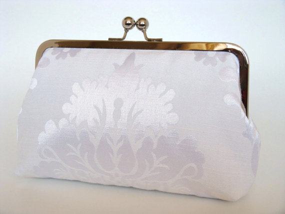 Свадьба - Damask Brides Clutch,Bridal Accessories,Bridal Clutch,Clutch,Formal,Wedding Purse,Bridesmaid Gifts