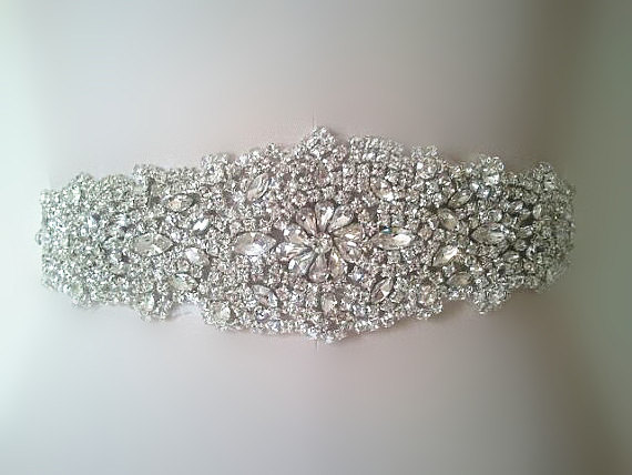 Mariage - SALE crystal rhinestone  Wedding Belt, Bridal Belt, Sash Belt, Crystal Rhinestones belt